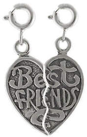 QVC Sterling Best Friends Charm Set