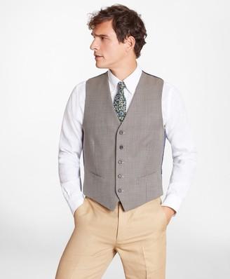 Brooks Brothers Geometric Five-Button Vest
