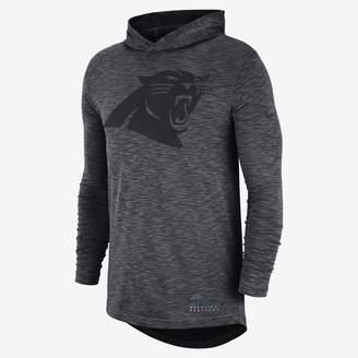 Nike NFL Panthers) Men's Hooded Long Sleeve Top