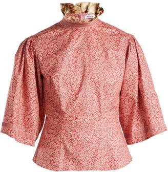 DAY Birger et Mikkelsen BATSHEVA Vine-print ruffled cotton blouse