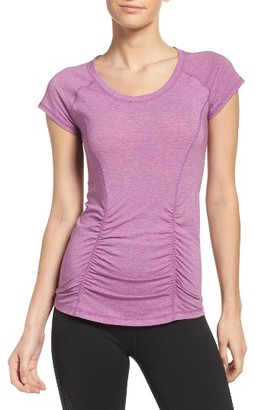 Women's Zella 'Z 6' Ruched Tee $32 thestylecure.com