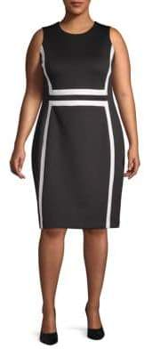 Calvin Klein Plus Colorblocked Sheath Dress