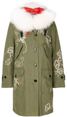 Ermanno Scervino embroidered parka jacket