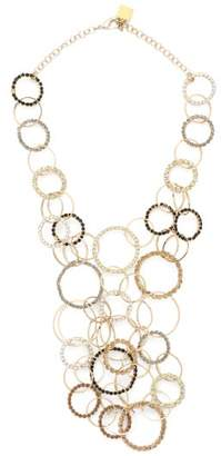 Rosantica By Michela Panero - Rock Crystal Encrusted Hoops Necklace - Womens - Gold Multi