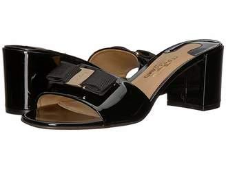 Salvatore Ferragamo Calfskin Mid-Heel Sandal