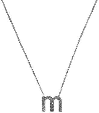 KC Designs White Gold Diamond Letter M Necklace