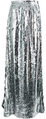 Faith Connexion logo stripe sequin maxi skirt
