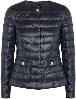 Herno Navy Quilted Shell Jacket