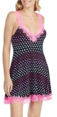 Betsey Johnson Pucker Up Amour Babydoll