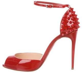 Christian Louboutin Pina Spike 100 Patent Sandals