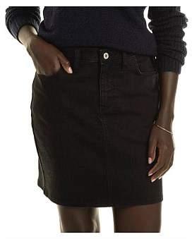 R & E RE: Black Stretch Denim Skirt