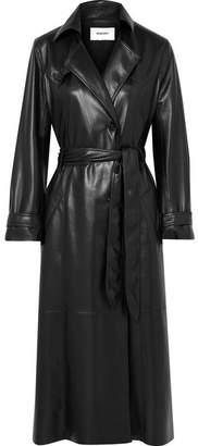 Nanushka Chiara Vegan Leather Trench Coat - Black