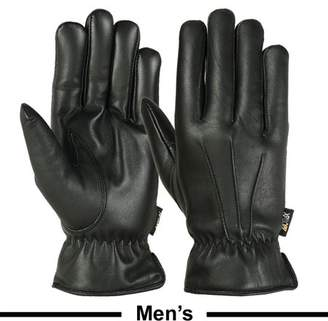 MRX Mens Warm Winter Gloves Dress Gloves Thermal Lining Geniune Leather BLACK, XX-Large