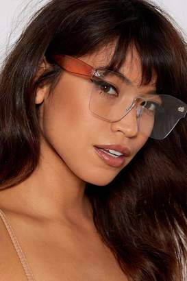 Nasty Gal Clear the Way Square Glasses