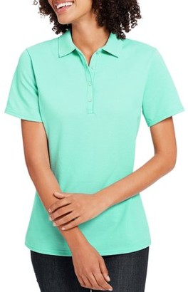 Hanes Women's X-Temp w/ Fresh IQ Short Sleeve Pique Polo Shirt