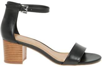 Le Château Women's Ankle Strap Mid Block Heel Sandal