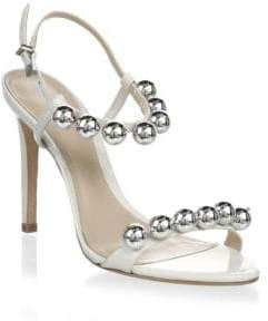 Schutz Nellie Leather Stiletto Sandals