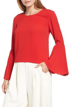 Vince Camuto Pleated Bell Sleeve Blouse