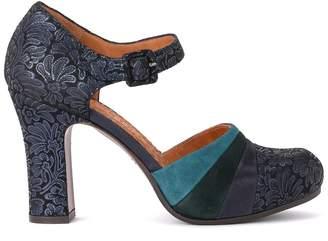 Chie Mihara Scarpa Deluxe In Suede Blu E Multicolore