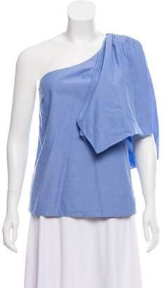 Rosie Assoulin Draped One-Shoulder Top