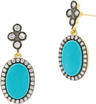 Freida Rothman Color Theory Pave Oval Drop Earrings