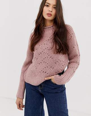 Moon River ribbed pink sweater