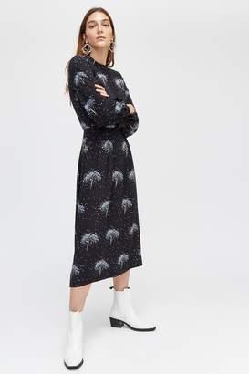 Next Womens Warehouse Black Star Tree Print Midi Dress