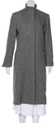 Ralph Lauren Black Label Long Wool-Blend Coat