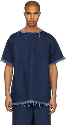 Marques Almeida Indigo Classic Oversize Denim T-Shirt