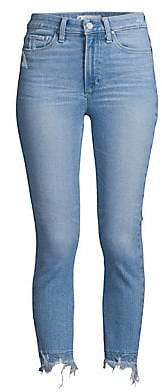 Paige Women's Hoxton High-Rise Cropped Undone Jeans