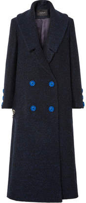 Paper London Rainbow Double-breasted Brushed Drill Coat - Midnight blue