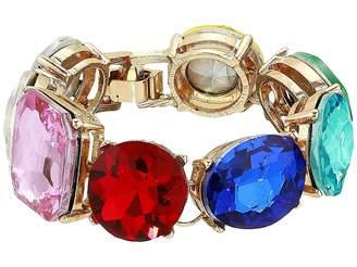 Steve Madden Geo Shape Casted Stone Link Bracelet