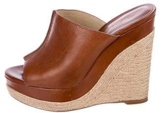 Michael Kors Leather Espadrille Wedges