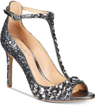 JEWEL By Badgley Mischka Conroy T-Strap Evening Sandals $119 thestylecure.com