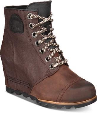 Sorel Women Pdx Wedge Waterproof Booties Women Shoes