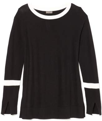 Vince Camuto Waffle-stitch Split-seam Sweater