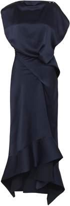 Acler Clover Draped Satin Asymmetric Dress