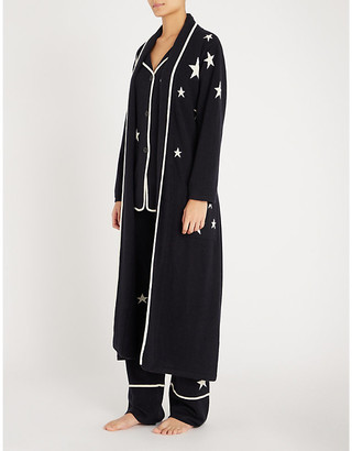 Chinti and Parker Star-intarsia cashmere dressing gown
