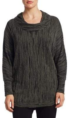 Nic+Zoe Plus Knitted Cowl Neck Top