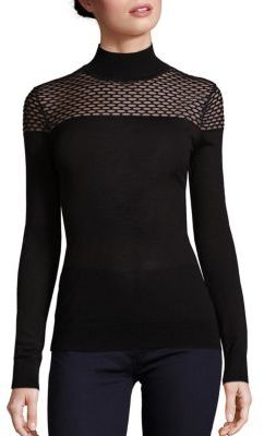 Bailey 44 Jules Mesh Inset Sweater $168 thestylecure.com