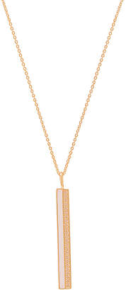 Elizabeth Stone Enamel CZ Bar Necklace