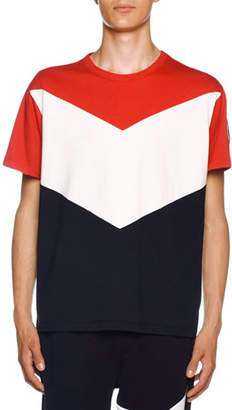 Moncler Men's Chevron Jersey T-Shirt