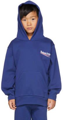 Balenciaga Boy Blue Campaign Logo Hoodie