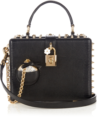 DOLCE & GABBANA Dolce Box Pocket Watch leather bag $3,675 thestylecure.com