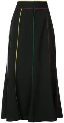 Rosie Assoulin contrast stitch midi skirt
