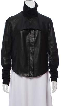 Helmut Lang Leather Cropped Jacket