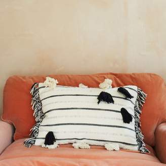 Graham and Green Metallic Striped Rectangular Cushion