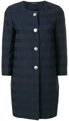 Tagliatore striped button up coat