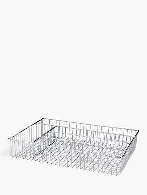 John Lewis & Partners Cutlery Tray, Large, Chrome