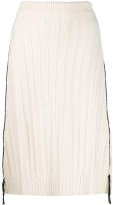 Jil Sander ribbed skirt